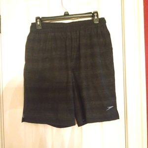 Mens Speedo Swim Shorts New Gray & Black
